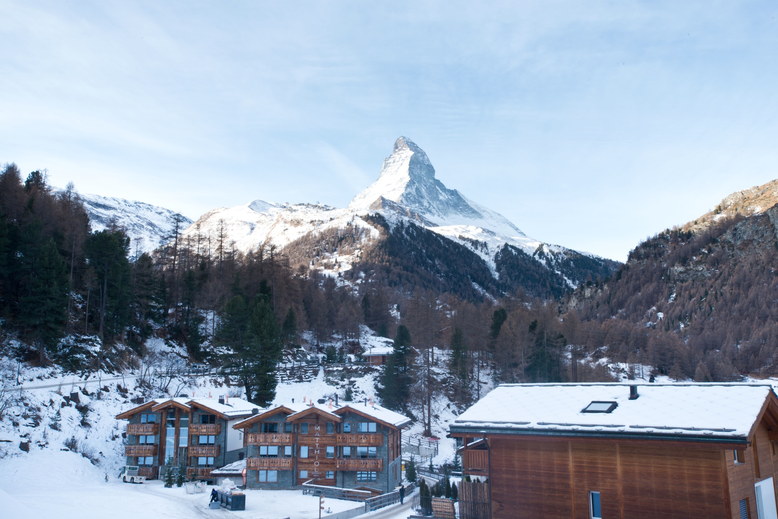 View onto the Matterhorn from the Chalet Talisman